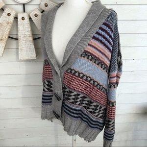 Anthropologie Kirra Wool Blend Cardigan Sweater